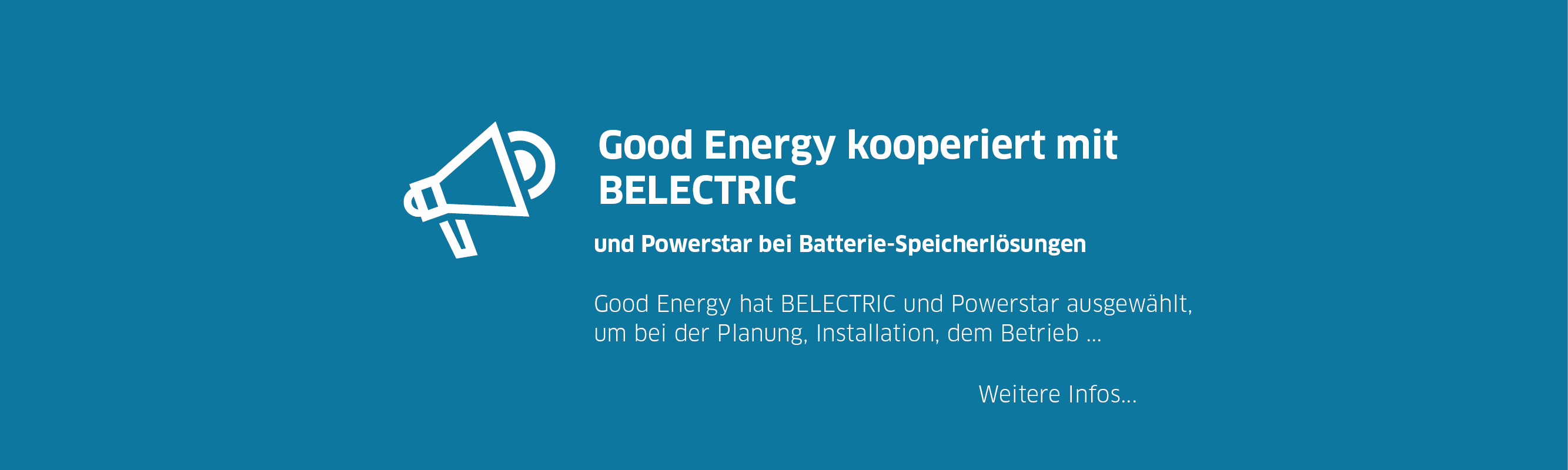 Good Energy kooperiert mit Belectric