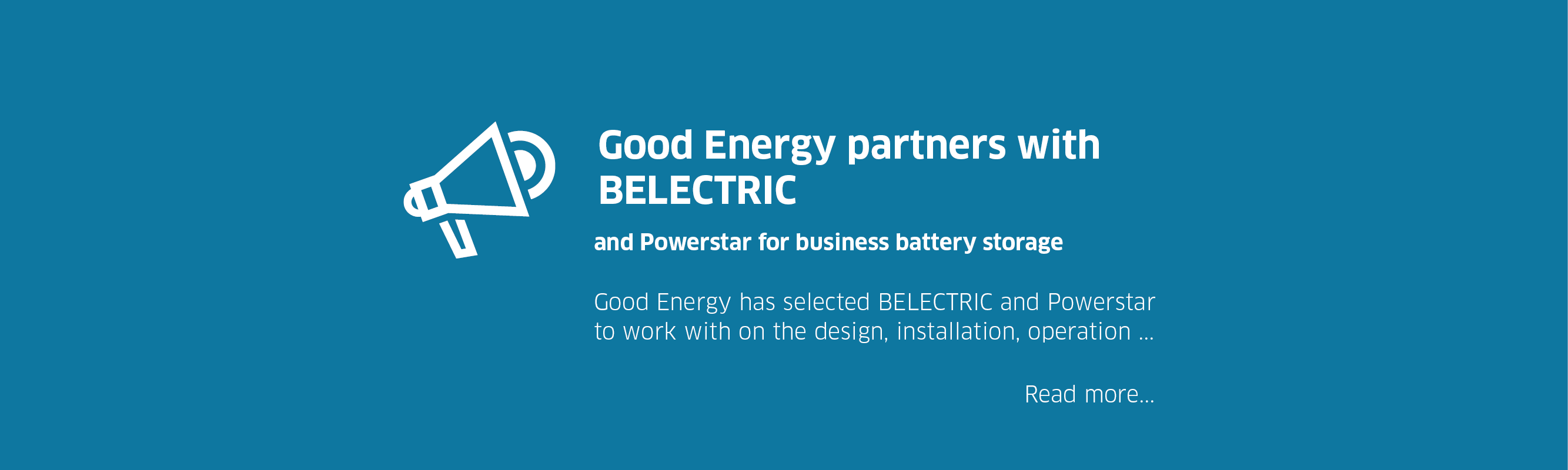 Good Energy partners with BELECTRIC