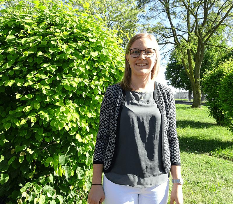 Klara Theobald, 21 Jahre, Auszubildende zur Groß- und Außenhandelskauffrau bei BELECTRIC