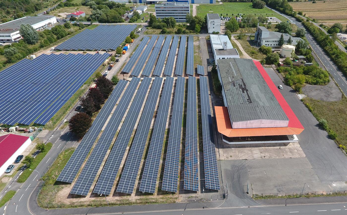 Solarkraftwerk Sondershausen Deutschland