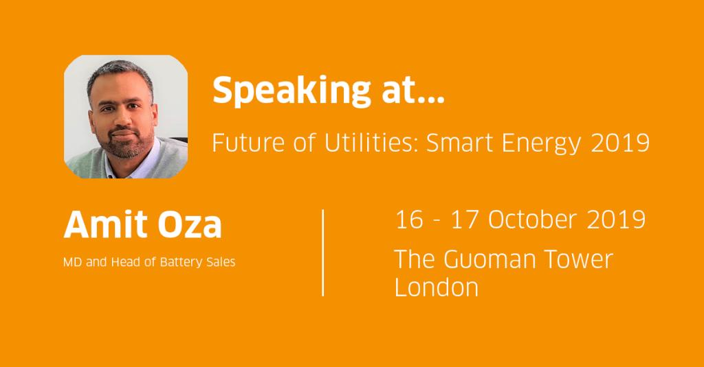 Amit Oza Speaking at Future of Utilities: Smart Energy 2019